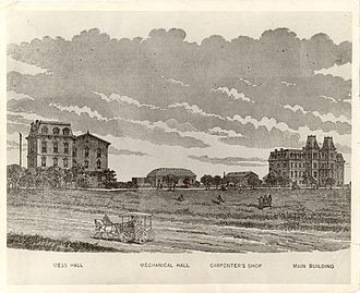 History of Texas A&M University - Image: Texas A&M 1883 campus