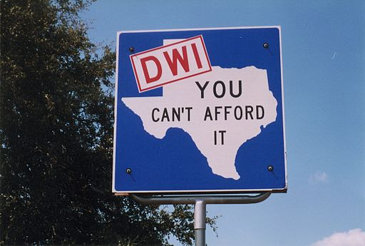Texas DWI Sign