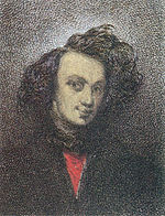 Théophile Gautier, portrait par Auguste de Chatillon (1839)