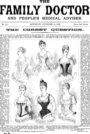 A front page of The Family Doctor from 1889