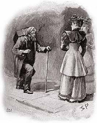 """The Adventure of the Crooked Man - The """"Crooked Man"""" recognizes Nancy Barclay, 1893 illustration by Sidney Paget"""