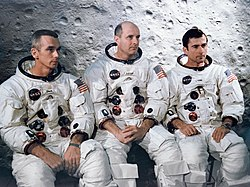Apollo 10 – v. l. n. r. Eugene Cernan, Thomas Stafford, John Young