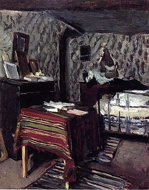 Maximilien Luce - The Artist's Room, rue Lavin, 1878