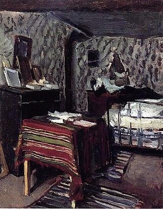 Maximilien Luce - The Artist's Room, rue Lavin, 1878