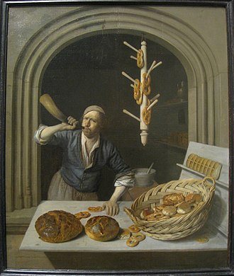 Baker - The Baker (c. 1681); oil-on-canvas painting by Job Adriaensz Berckheyde (1630-1693) now held by the Worcester Art Museum.