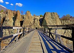 Danyor Suspension Bridge - Image: The Bridges of adventures, Danyour, Dist. Gilgit , GB