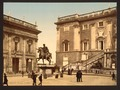 The Capitoline, the piazza, Rome, Italy-LCCN2001700936.tif