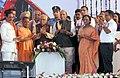 The Governor of Uttar Pradesh, Shri Ram Naik, the Union Home Minister, Shri Rajnath Singh, the Chief Minister, Uttar Pradesh, Yogi Adityanath and other dignitaries at the inauguration of Lucknow Metro Rail,.jpg