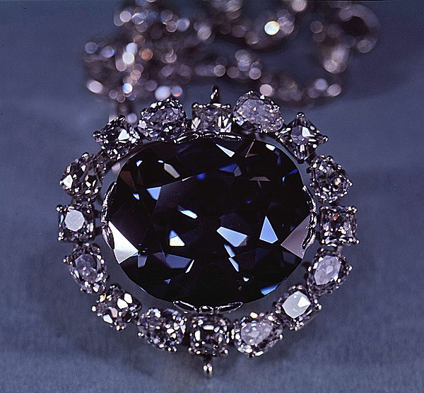 The most famous colored diamond, the Hope Diamond The Hope Diamond - SIA.jpg