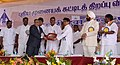 The Member (Planning) Airports Authority of India Shri S. Raheja presenting a memento to Union Minister for Civil Aviation, Shri Ajit Singh at the inauguration of the newly built terminal of Pondicherry airport.jpg
