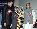 The Minister of Mines, Shri Sis Ram Ola lighting the lamp at presentation ceremony of the National Mineral Awards – 2005 to eminent geo- scientistsengineerstechnologists etc., in New Delhi on February 14, 2007.jpg