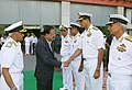 The Minister of State for Defence, Dr. Subhash Ramrao Bhamre being introduced by the Chief of Naval Staff, Admiral Sunil Lanba to Naval Commanders, during the Naval Commanders' Conference, in New Delhi on May 08, 2018.JPG