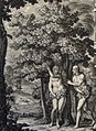 The Phillip Medhurst Picture Torah 20. Adam & Eve clothe themselves. Genesis cap 3 v 7. Sperling.jpg