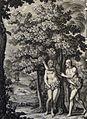 The Phillip Medhurst Picture Torah 20. Adam & Eve clothe themselves. Genesis cap 3 v 7. Sperling.jpg