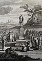The Phillip Medhurst Picture Torah 452. Worshipping the golden calf. Exodus cap 32 vv 5-8. Schenck.jpg