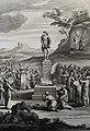 The Phillip Medhurst Picture Torah 452. Worshipping the golden calf. Exodus cap 32 vv 5-8. Schenck.jpg
