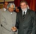 The President, Dr. A.P.J. Abdul Kalam meeting with the President of Federal Republic of Brazil Mr.Luiz Inacio Lula Da Silva, in New Delhi on June 04, 2007.jpg
