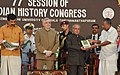 The President, Shri Pranab Mukherjee at the inauguration of the 77th Session of Indian History Congress, at Thiruvananthapuram.jpg