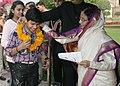 "The President, Smt. Pratibha Devisingh Patil receiving greetings from all walks of life, on the occasion of ""Diwali"", at Rashtrapati Bhavan, in New Delhi on November 05, 2010 (2).jpg"