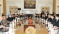 The Prime Minister, Dr. Manmohan Singh and the Chinese Premier, Mr. Wen Jiabao, at the delegation level talks, in New Delhi on December 16, 2010.jpg