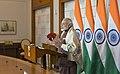 The Prime Minister, Shri Narendra Modi addressing at the event to mark National Youth Day and Sarva Dharma Sabha at Belagavi, Karnataka via Video Conference, in New Delhi on January 12, 2018.jpg