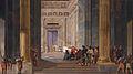 The Queen of Sheba before the temple of Solomon in Jerusalem, by Salomon de Bray (1597-1664).jpg