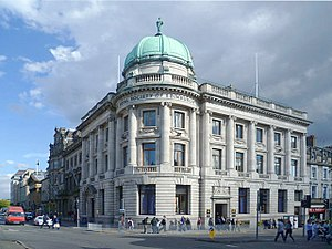 Royal Society of Edinburgh - The Royal Society building, at the junction of George Street and Hanover Street in the New Town, Edinburgh