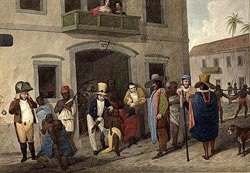 Рынок рабов в Рио, 1824 год