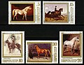The Soviet Union 1988 CPA 5972-5976 stamps (Horse Breeding of Soviet Union. Horse Breeding Museum).jpg
