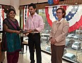 The U.S Consulate Chennai celebrated its two-year anniversary on Facebook with U.S. Consul General Jennifer McIntyre, actors Bharath Srinivasan and Jeyam Ravi02.jpg