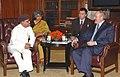 The Union Minister of External Affairs, Shri Pranab Mukherjee meeting with the President of the Republic of Belarus, Mr. Aleksandr Lukashenko, in New Delhi on April 16, 2007.jpg