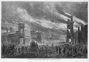 1865 in the United States - February 17: Columbia, South Carolina burns