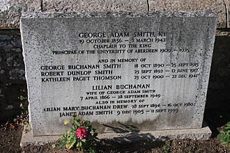 George Adam Smith - The grave of George Adam Smith, Currie Churchyard
