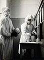 The inoculation of an isolated plague patient in China. Phot Wellcome V0029668.jpg