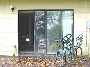 Sliding glass door - A sliding glass door