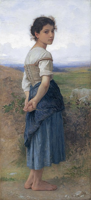 The Young Shepherdess - Image: The young shepherdess, by William Adolphe Bouguereau