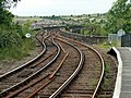There's a bend in the line - geograph.org.uk - 482444.jpg