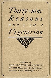 <i>Thirty-nine Reasons Why I Am a Vegetarian</i>