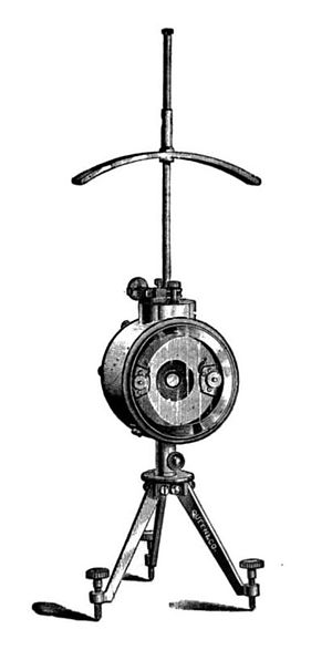 Mirror galvanometer - Thomson mirror galvanometer of tripod type, from around 1900
