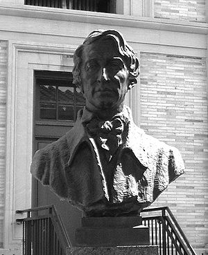 A photo of a bust of Henry David Thoreau from ...
