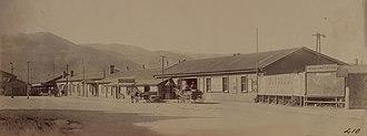 Wellington and Manawatu Railway Company - Thorndon Railway Station c.1900 opened 1886, closed 18 June 1937