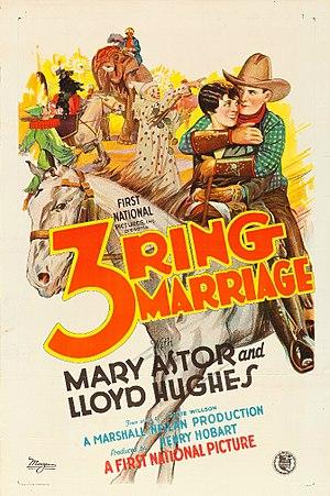 Three-Ring Marriage - Image: Three Ring Marriage poster