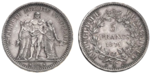 5 francs 1889 A 220px-Thune-Cam%C3%A9linat-1871