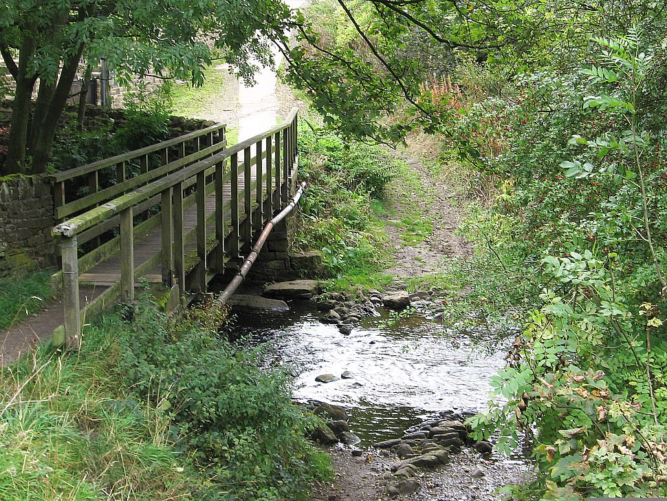 Thurlstone - Leapings Lane footbridge and ford