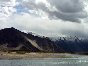 Lhasa (prefecture-level city) - Lhasa River to the south of Lhasa