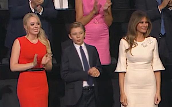 Tifanny, Barron, and Melania Trump at RNC