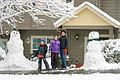 Tiffany, Chloe, and Wesley with our snowmen (31466847344).jpg