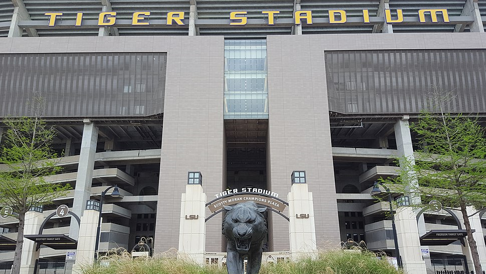 Tiger Stadium (LSU) - Mike the Tiger and Marquee