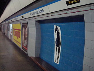 Blackhorse Road station - The black horse tile motif at the tube station.
