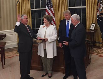 Rex Tillerson - Tillerson being sworn in as Secretary of State on February 1, 2017